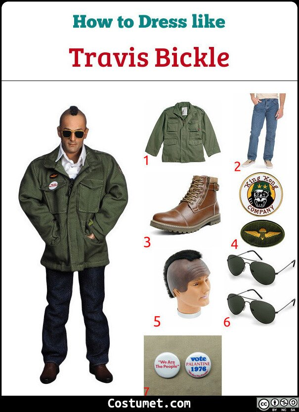 Travis Bickle Costume for Cosplay & Halloween