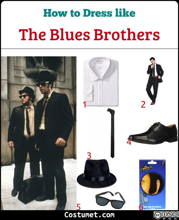 The Blues Brothers Costume for Cosplay & Halloween