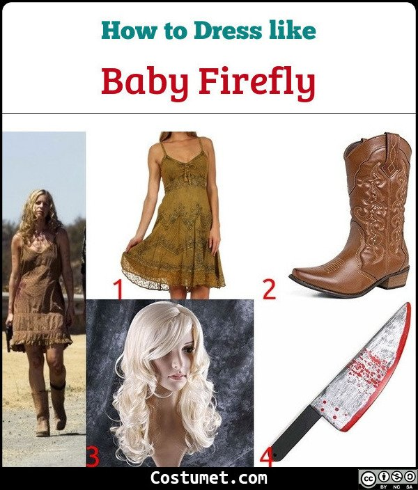 Baby Firefly The Devils Rejects Costume for Cosplay & Halloween