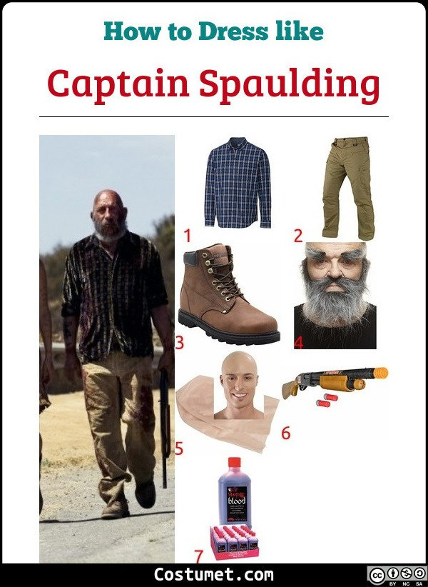 Captain Spaulding The Devils Rejects Costume for Cosplay & Halloween