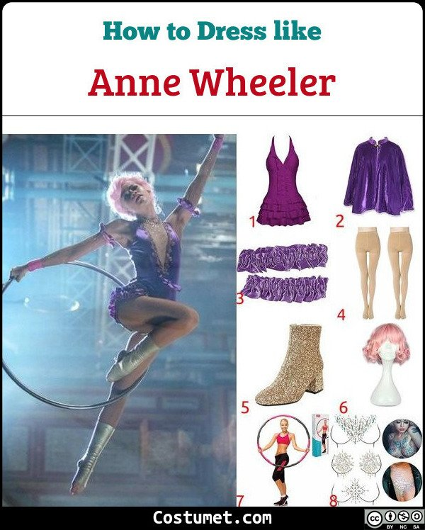 Kids Girl Anne Wheeler ZENDAYA Cosplay The Greatest Showman Costume Dance Outfit