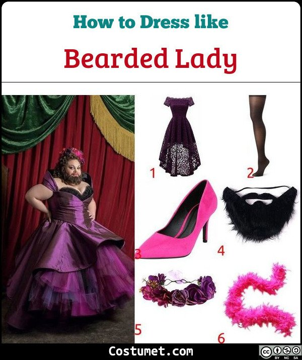 Bearded Lady Costume for Cosplay & Halloween