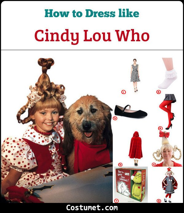 How The Grinch Stole Christmas Costumes.Dress Like Cindy Lou Who The Grinch Stole Christmas Costume For