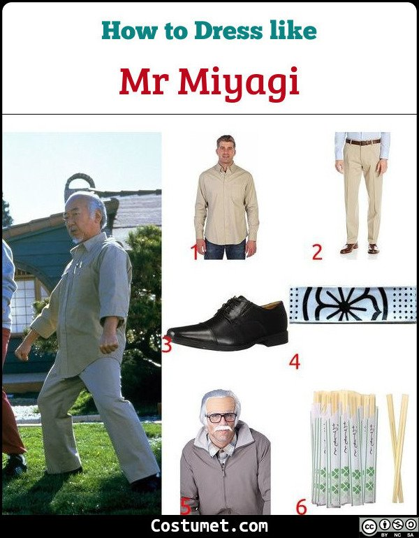 Mr Miyagi Costume for Cosplay & Halloween