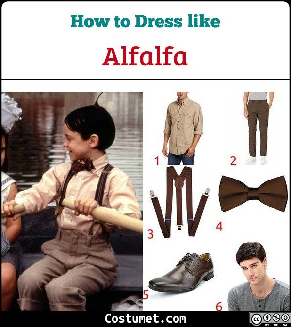 Alfalfa The Little Rascals Costume for Cosplay & Halloween