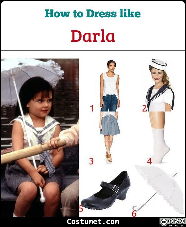 Darla The Little Rascals Costume for Cosplay & Halloween