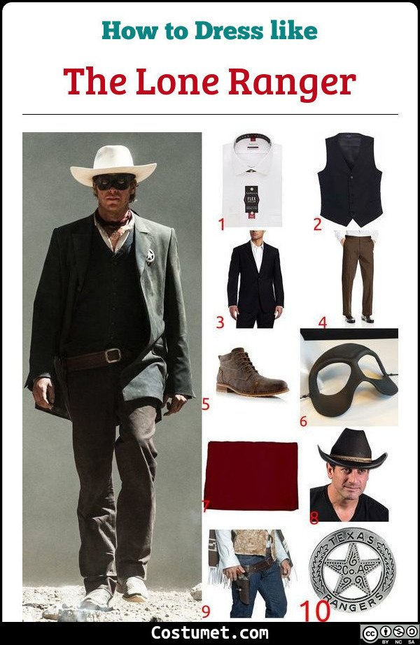 The Lone Ranger Costume for Cosplay & Halloween