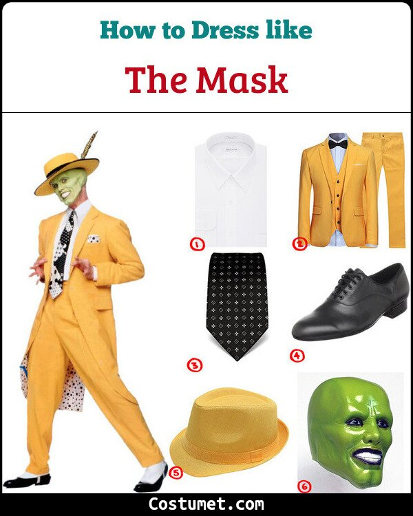 The Mask Costume for Cosplay & Halloween