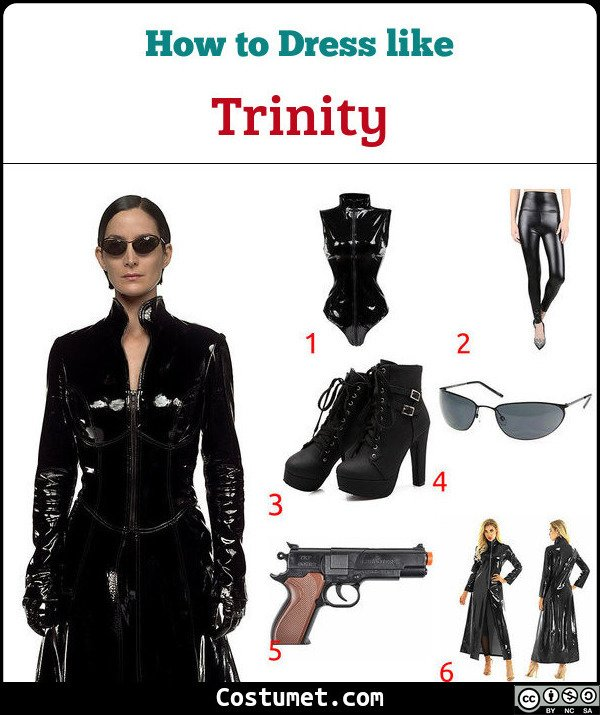Trinity (The Matrix) Costume for Cosplay & Halloween