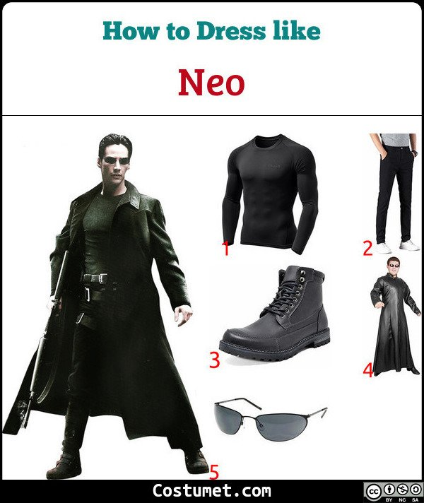 Neo (The Matrix) Costume for Cosplay & Halloween