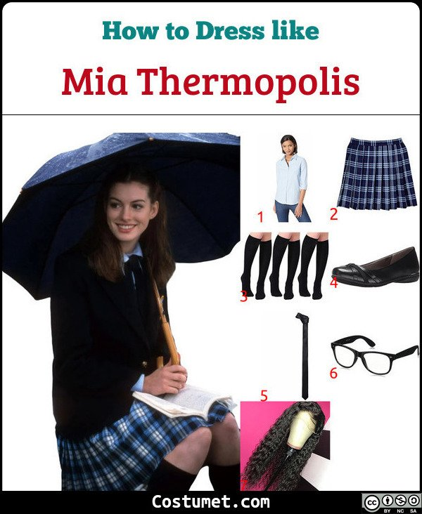 Mia Thermopolis Costume for Cosplay & Halloween
