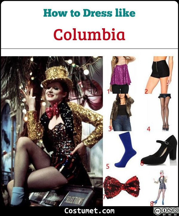 Columbia The Rocky Horror Picture Show Costume for Cosplay & Halloween