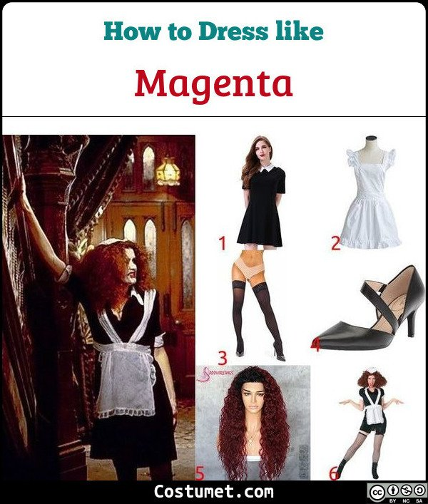 Magenta The Rocky Horror Picture Show Costume for Cosplay & Halloween