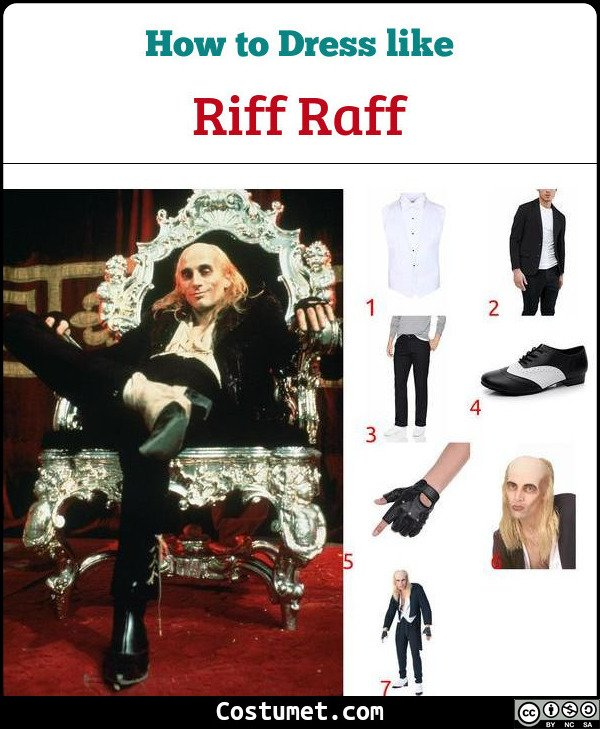 Riff Raff The Rocky Horror Picture Show Costume for Cosplay & Halloween
