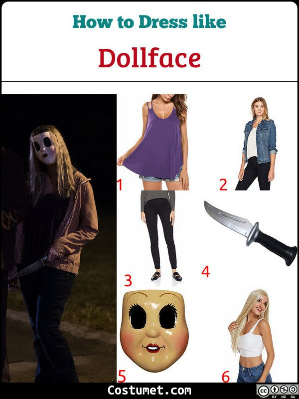 Dollface The Strangers Costume for Cosplay & Halloween