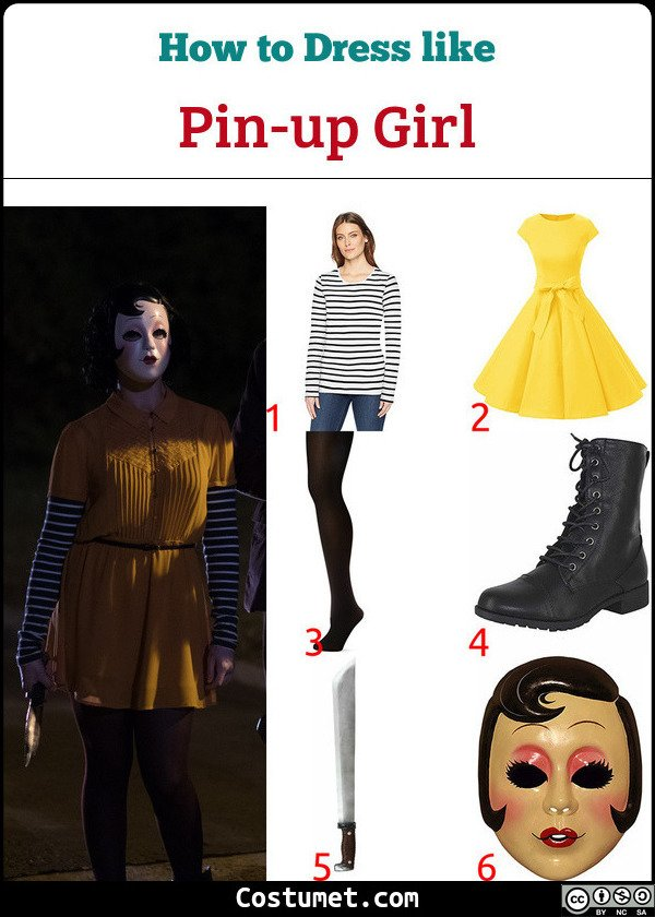 Pin up Girl The Strangers Costume for Cosplay & Halloween