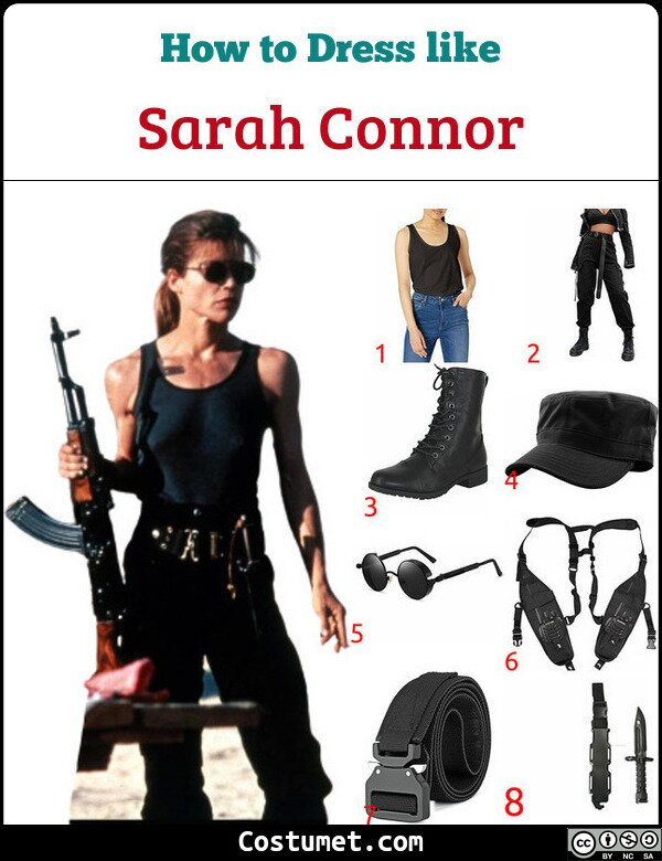 Sarah Connor Costume for Cosplay & Halloween
