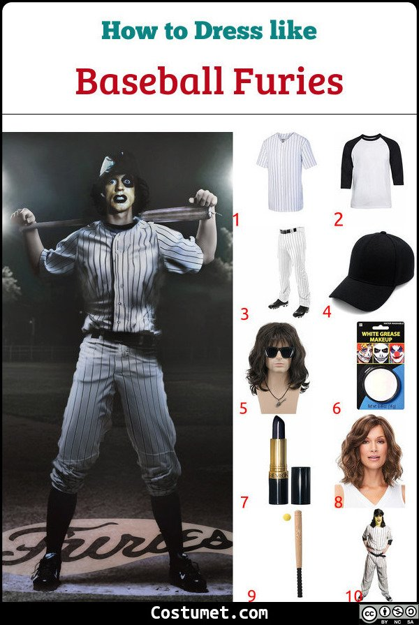Baseball Furies from The Warriors Costume for Cosplay & Halloween