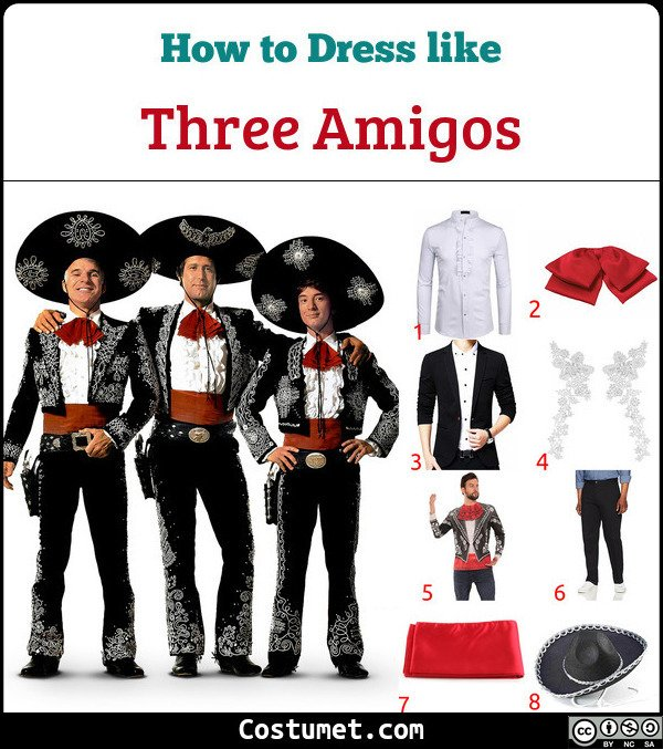 Three Amigos Costume for Cosplay & Halloween