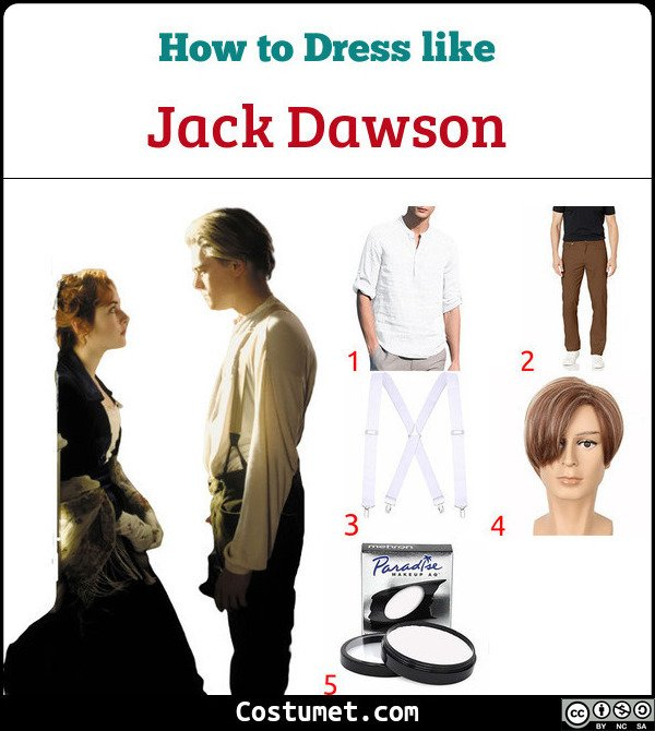 Jack Dawson (Titanic) Costume for Cosplay & Halloween