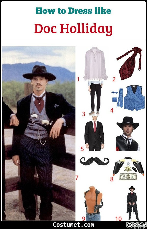 Doc Holliday Costume for Cosplay & Halloween