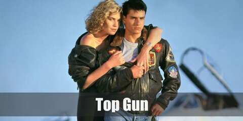 Top Gun Pilot costume is a one-piece olive jumpsuit with lots of patches is what you'll be wearing if you're going to be one of them. Charlie's costume can easily be recreated with a white button-down shirt paired with a black pencil skirt. Then top it with a black jacket. She also wears black pumps and has a blonde hair!