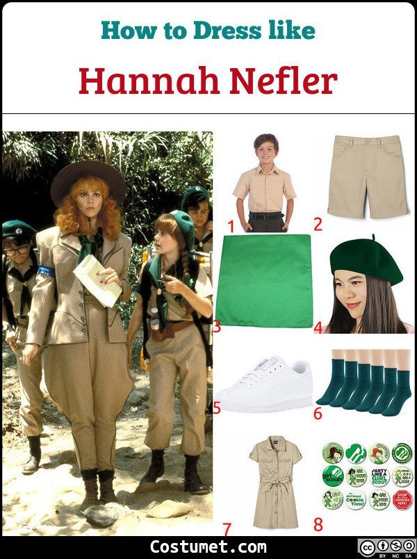 Hannah Nefler Troop Beverly Hills Costume for Cosplay & Halloween