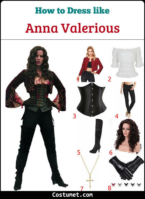 Anna Valerious Costume for Cosplay & Halloween