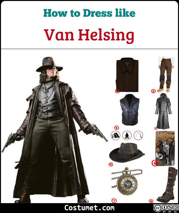 Van Helsing Costume for Cosplay & Halloween