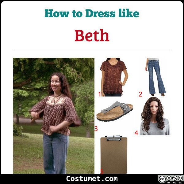 Beth Wet Hot American Summer Costume for Cosplay & Halloween