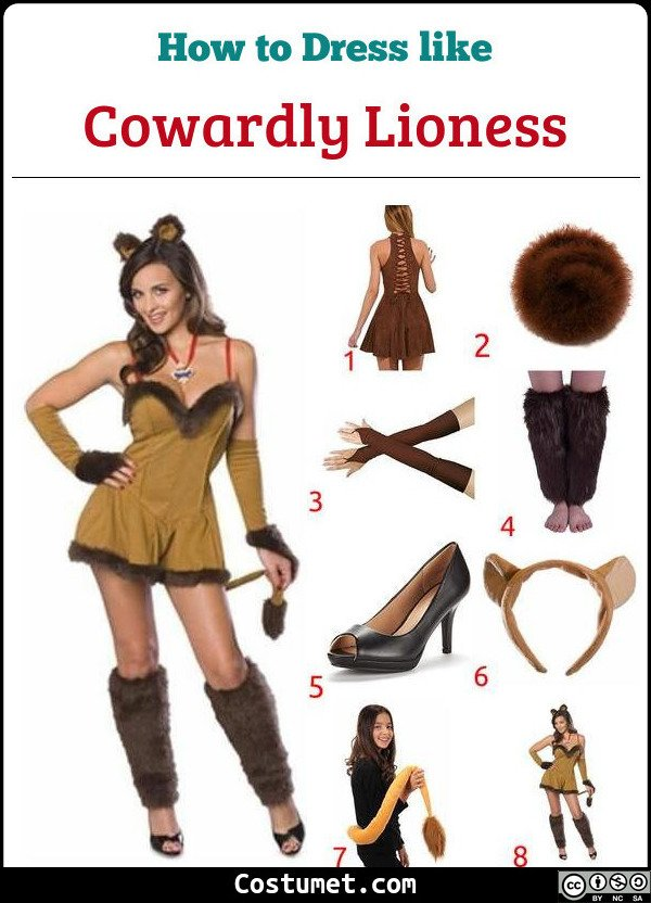Cowardly Lioness Costume for Cosplay & Halloween