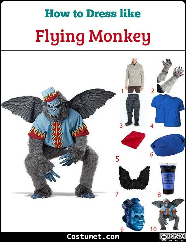 Flying Monkey Costume for Cosplay & Halloween