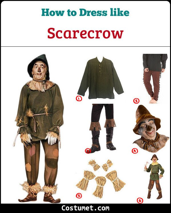 Dress Like Scarecrow Wizard Of Oz Costume For Cosplay Halloween