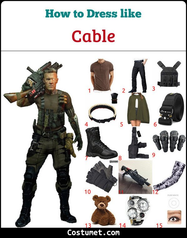 Cable Costume for Cosplay & Halloween