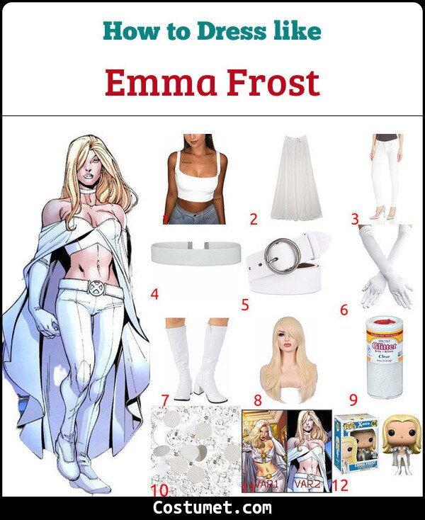 Emma Frost Costume for Cosplay & Halloween