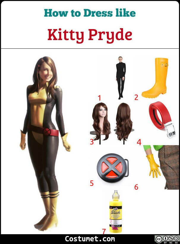 Kitty Pryde Costume for Cosplay & Halloween