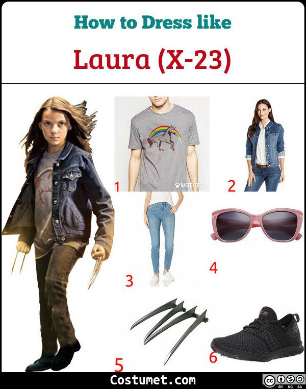 Laura (X-23) Costume for Cosplay & Halloween