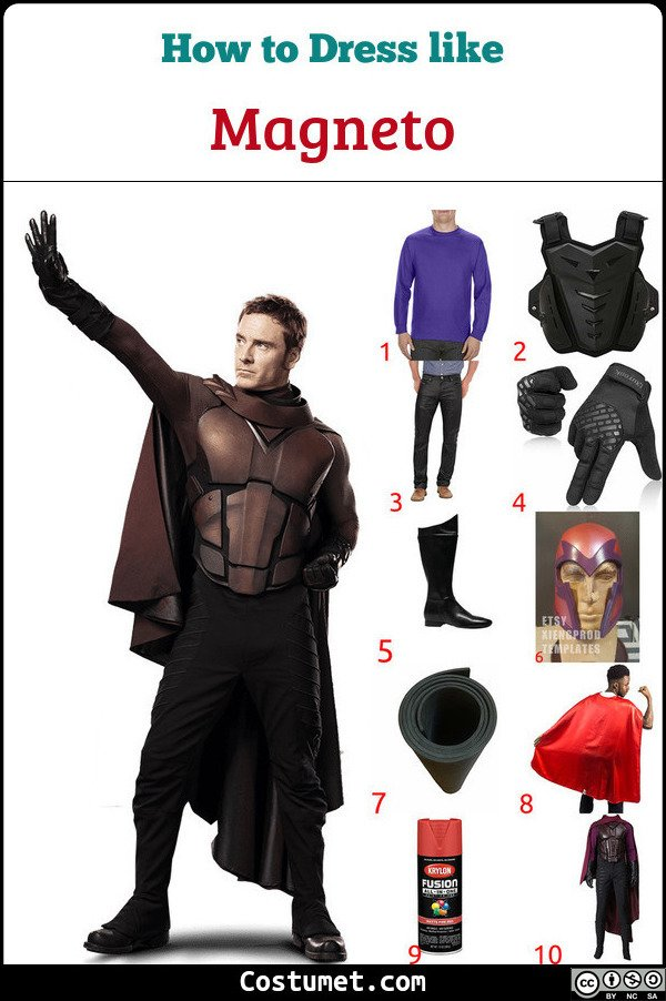 Magneto Costume for Cosplay & Halloween