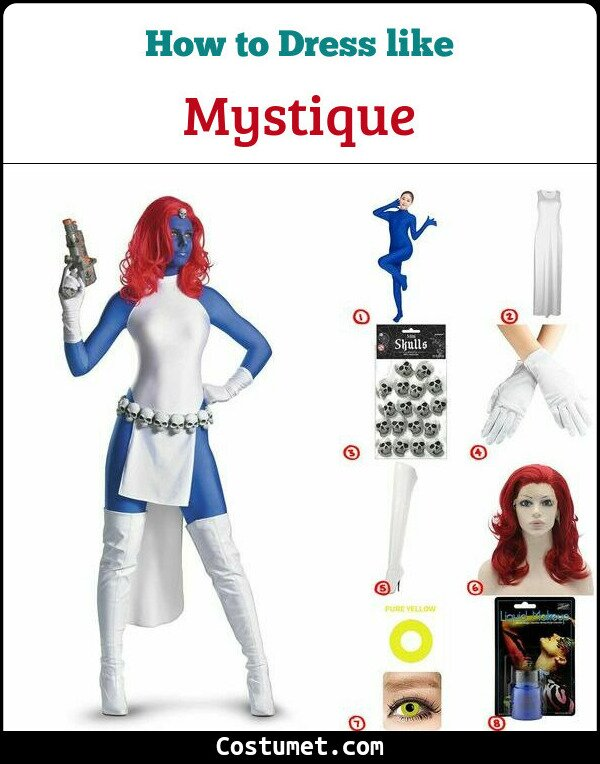 Mystique Costume for Cosplay & Halloween