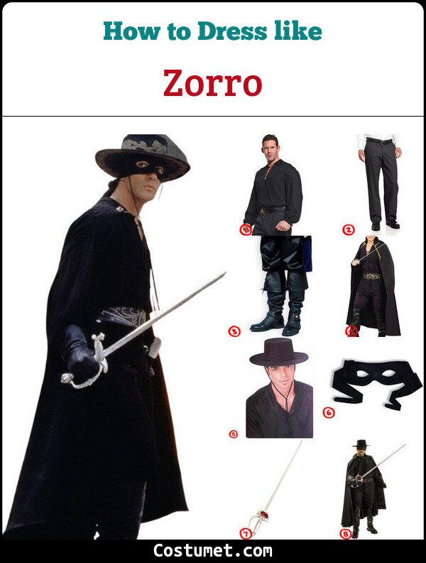 Zorro Costume for Cosplay & Halloween