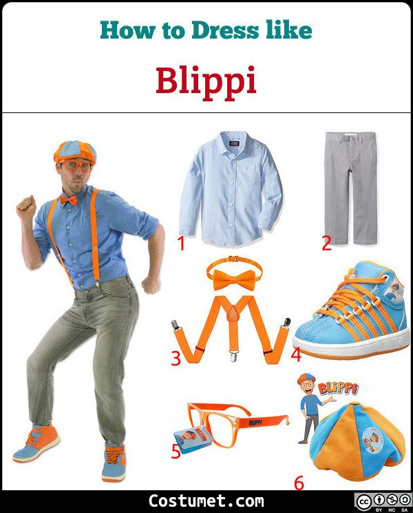 Blippi Costume for Cosplay & Halloween