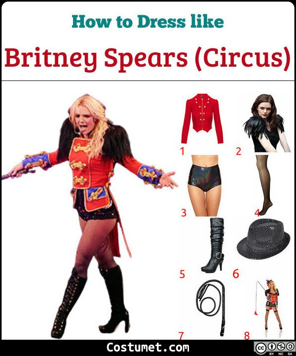 Britney Spears (Circus) Costume for Cosplay & Halloween
