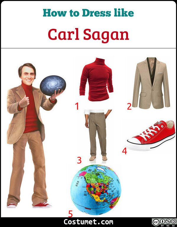 Carl Sagan Costume for Cosplay & Halloween