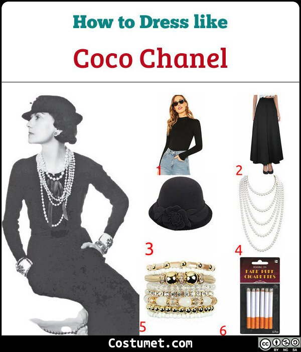 Coco Chanel Costume for Cosplay & Halloween