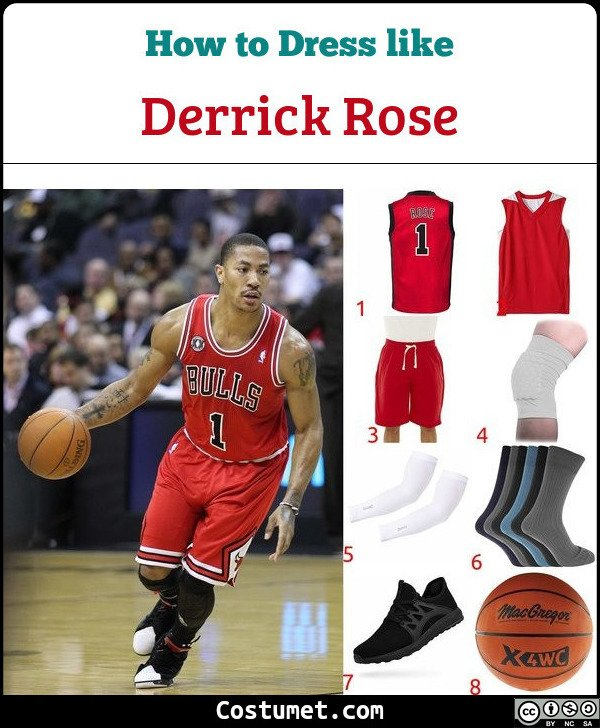 Derrick Rose Costume for Cosplay & Halloween