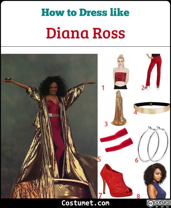 Diana Ross Costume for Cosplay & Halloween