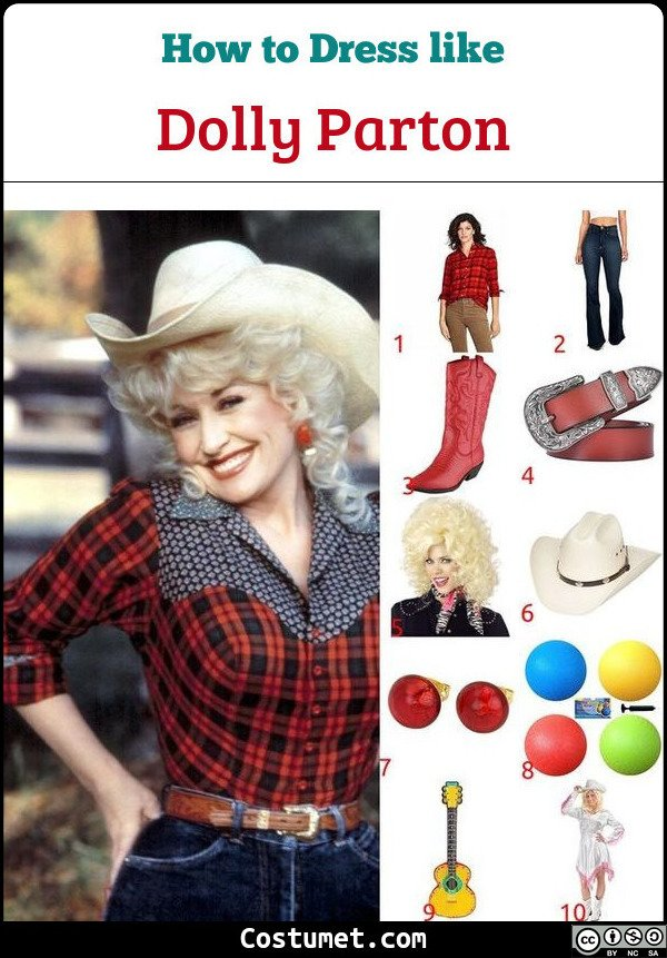 Dolly Parton Costume for Cosplay & Halloween