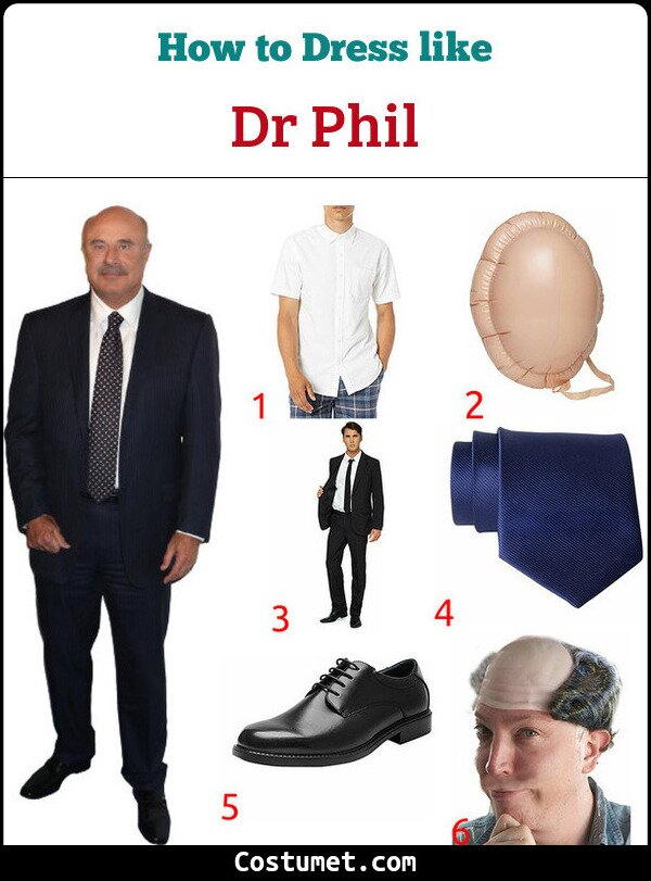 Dr Phil Costume for Cosplay & Halloween