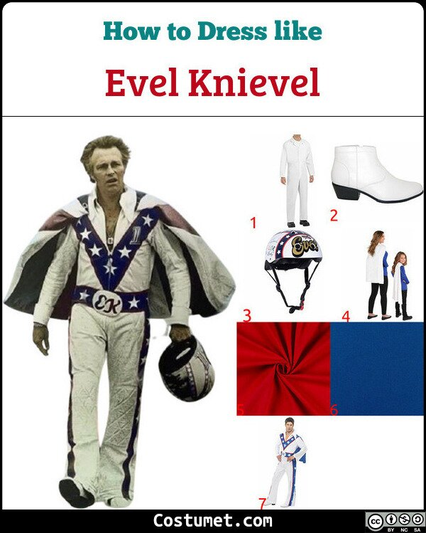 Evel Knievel Costume for Cosplay & Halloween