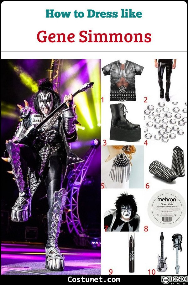 Gene Simmons Costume for Cosplay & Halloween